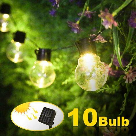 Outdoor Solar String Lights - 10 LED - Waterproof - Outdoor Solar Lighting for Garden, Yard, Balcony, Wedding, Party Decoration