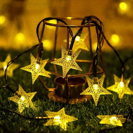 Outdoor Solar String Lights, 12M 100 LED Outdoor Solar String Lights IP65 Waterproof 8 Modes Decoration Light for Garden, Patio, Patio, Yard, Home, Christmas, Wedding, Party (Warm White)