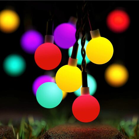 Outdoor Solar String Lights, 50 LED 7M Waterproof IP65 with 8 Modes Ambient Lighting Pretty Lights Romantic DIY Decoration for Garden Patio Fence Yard Home Party Christmas (Multi)