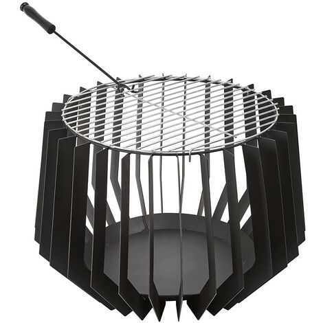 Outdoor Steel Fire Pit Basket Bowl Log Wood Burner Brazier Garden Patio Heater