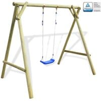 Outdoor Swing 154x139x180 cm FSC Impregnated Pinewood