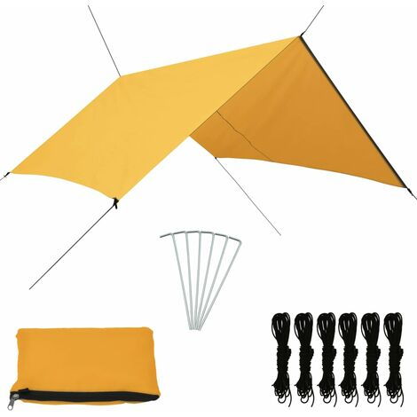 Outdoor Tarp 3x2.85 m Yellow