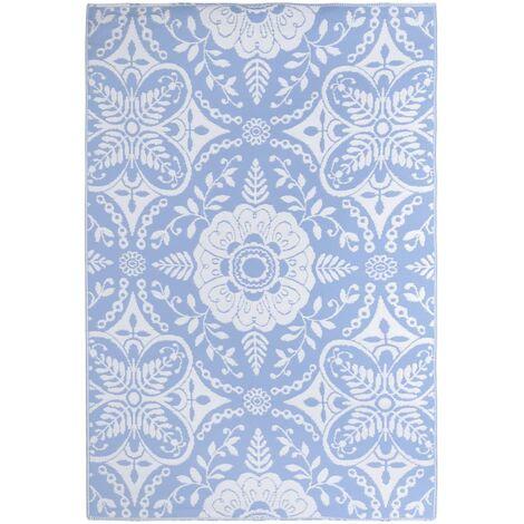 Outdoor-Teppich Babyblau 190x290 cm PP