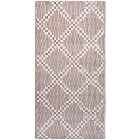 Outdoor-Teppich Braun 120x180 cm PP