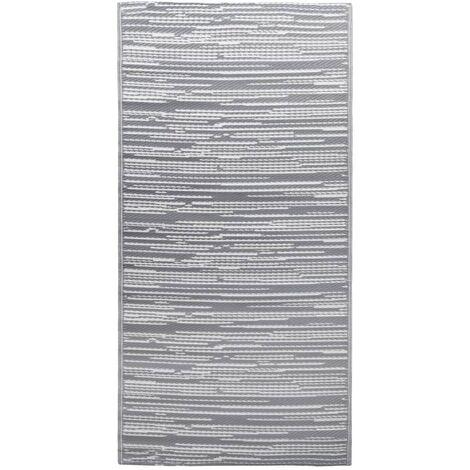 Outdoor-Teppich Grau 160x230 cm PP