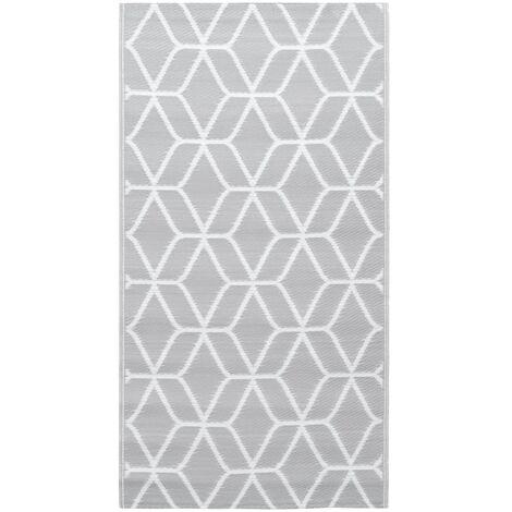 Outdoor-Teppich Grau 80x150 cm PP