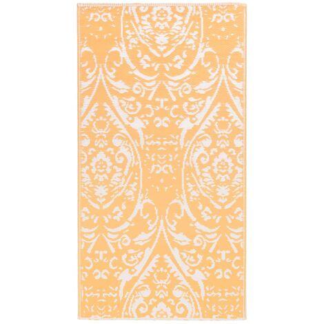 Outdoor-Teppich Orange und Weiß 120x180 cm PP
