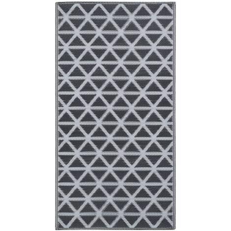 Outdoor-Teppich Schwarz 160x230 cm PP