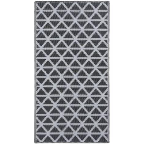 Outdoor-Teppich Schwarz 80x150 cm PP