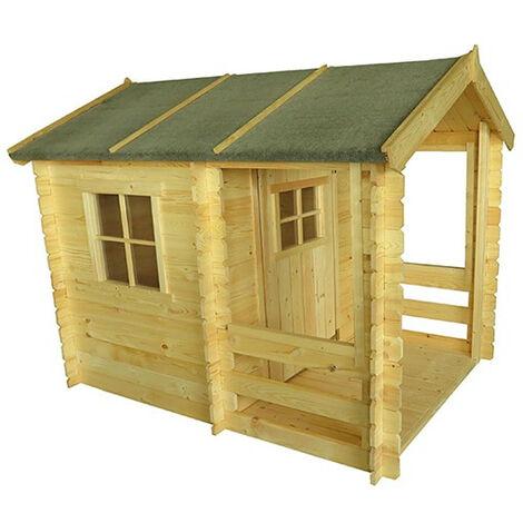 Outdoor Toys Maisonnette En Bois Peter - 146 cm x 181 cm x 145 cm - 2,64 M² + Porche