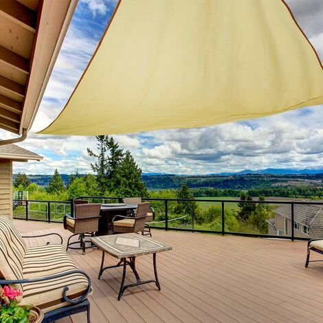 Outdoor Triangle Sun Shade Sail - Garden Patio Sunscreen Awning Canopy UV Block