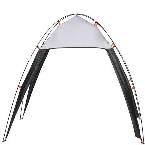 Outdoor Triangle Tent Beach Awning Camping Sun Shade Shelter Canopy For 5-8 Person