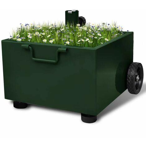 Outdoor Umbrella Stand Plant Pot Green