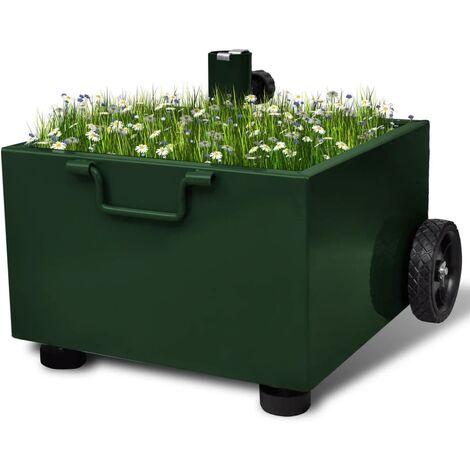 Outdoor Umbrella Stand Plant Pot Green - Green