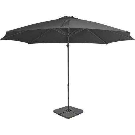 Outdoor Umbrella with Portable Base Anthracite