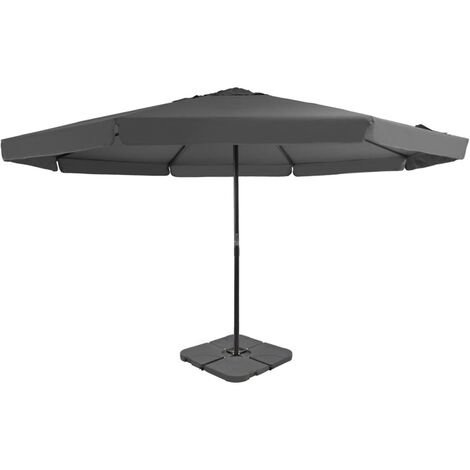 Outdoor Umbrella with Portable Base Anthracite