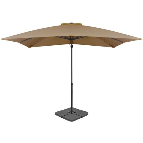 Outdoor Umbrella with Portable Base Taupe