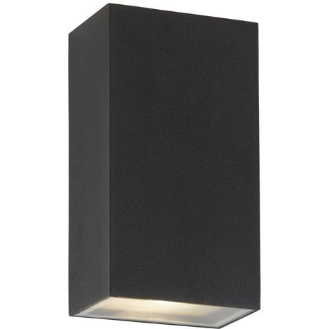 OUTDOOR UP/DOWN LED RECTANGLE WALL BRACKET, BLACK