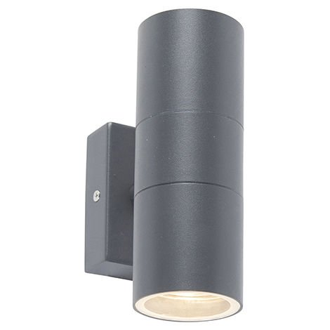 Outdoor Wall Lamp Anthracite IP44 - Duo