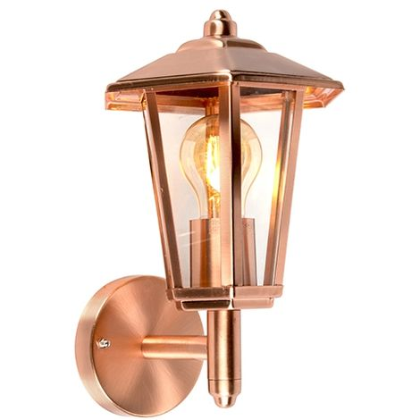 outdoor wall lamp copper IP44 - New Port up