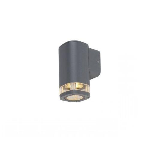 Outdoor wall lamp square 1-light dark gray IP54 - Fox
