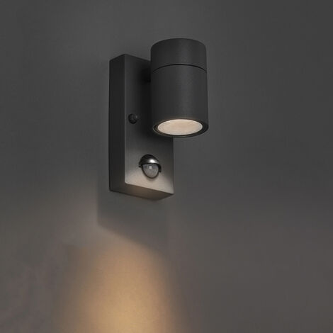 Outdoor Wall Lamp with Motion Sensor Anthracite IP44 - Solo