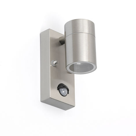 Outdoor Wall Lamp with Motion Sensor Steel IP44 - Duo