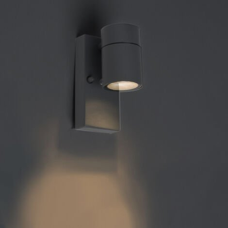 Outdoor Wall Lamp with Twilight Switch Anthracite IP44 - Solo