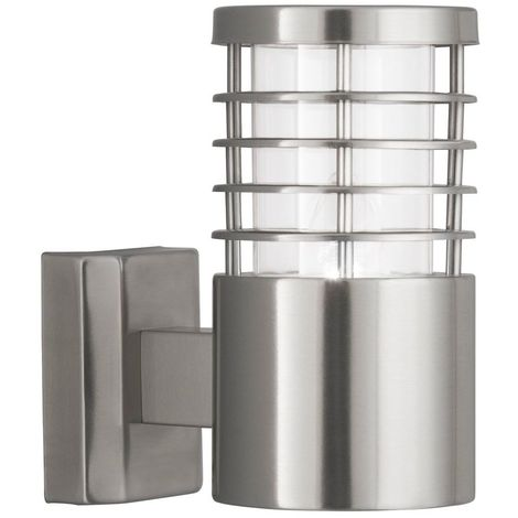 OUTDOOR WALL LIGHT - 1 LIGHT STAINLESS STEEL