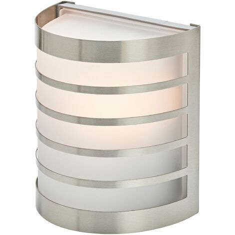 """main image of """"Outdoor Wall Light 'Calin' (modern) in Silver made of Stainless Steel (1 light source, E27) from Lindby 