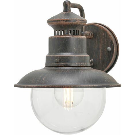 Outdoor Wall Light 'Eddie' dimmable) in Brown (1 light source, E27, A++) from Lindby | wall lamp for exterior/interior walls, house, terrace & balcony