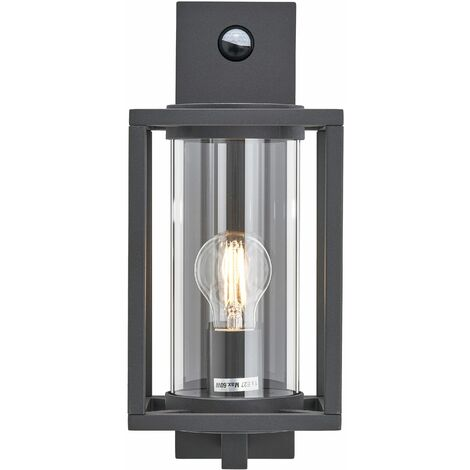 """main image of """"Outdoor Wall Light 'Ferda' dimmable with motion detector (modern) in Black made of Aluminium (1 light source, E27) from Lucande 
