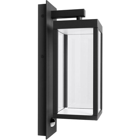 Outdoor Wall Light 'Ferdinand' with motion detector (modern) in Silver made of Aluminium (1 light source, A+) from Lucande | wall lamp for exterior/interior walls, house, terrace & balcony