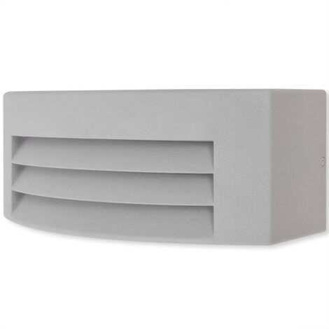 Outdoor Wall Light Grey Aluminium