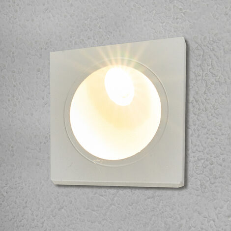 Outdoor Wall Light 'Ian' (modern) in White made of Aluminium (1 light source, A+) from Lucande | brick Light, wall lamp for exterior/interior walls, house, terrace & balcony