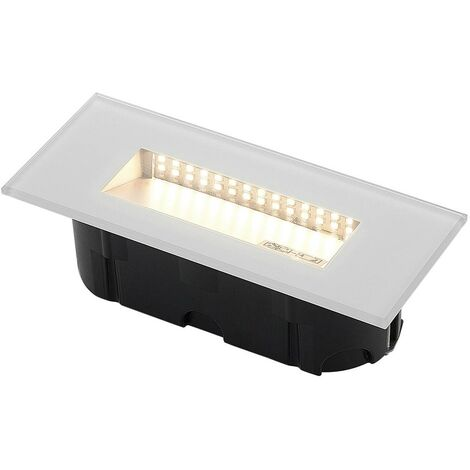 Outdoor Wall Light 'Jody' (modern) in Clear (1 light source, A+) from Lucande | brick Light, wall lamp for exterior/interior walls, house, terrace & balcony