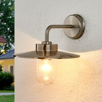 "Outdoor Wall Light ""Joscha"" (modern) in Silver made of Stainless Steel (1 light source, E27, A++) from Lampenwelt"