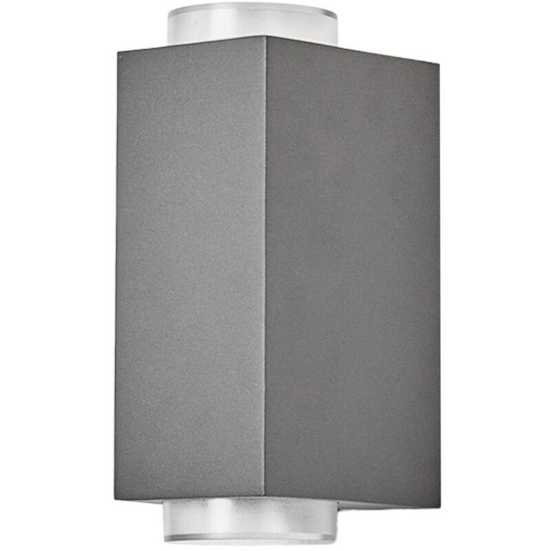 Image of 2-light dark grey outdoor wall lamp Jovan - LAMPENWELT