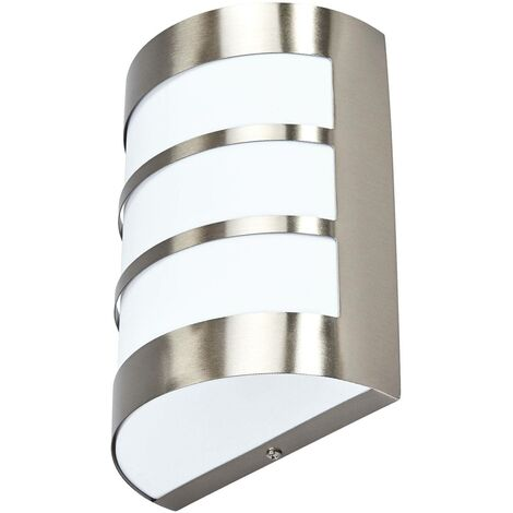 Outdoor Wall Light 'Kristian' with motion detector (modern) in Silver made of Stainless Steel (1 light source, E27, A++) from Lindby | wall lamp for exterior/interior walls, house, terrace & balcony