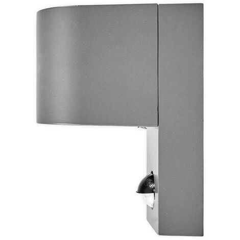 Outdoor Wall Light 'Palina' with motion detector (modern) in Black made of Aluminium (1 light source, GU10, A++) from Lindby | wall lamp for exterior/interior walls, house, terrace & balcony