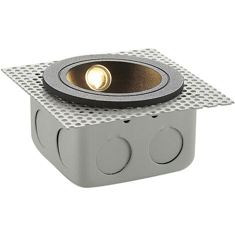 Outdoor Wall Light 'Pordis' (modern) in Black made of Aluminium (1 light source, A+) from Lucande | brick Light, wall lamp for exterior/interior walls, house, terrace & balcony