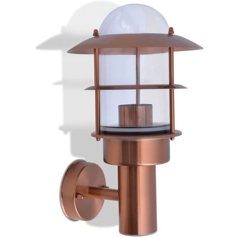 Outdoor Wall Light Stainless Steel Copper