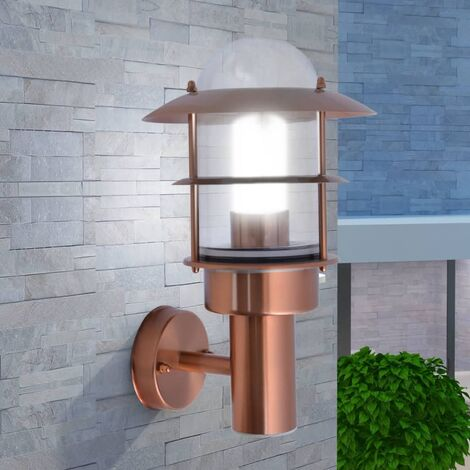 Outdoor Wall Light Stainless Steel Copper - Brown