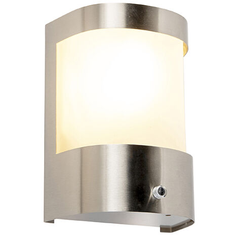 "main image of ""Modern outdoor wall lamp stainless steel motion sensor IP44 - Mira"""