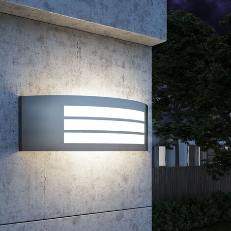Outdoor Wall Light Stainless Steel - Silver