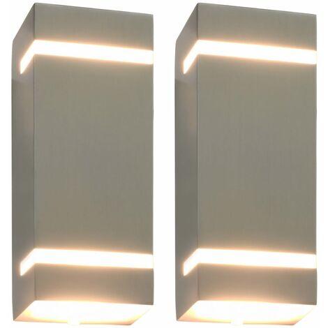 Outdoor Wall Lights 2 pcs 35 W Silver Rectangular