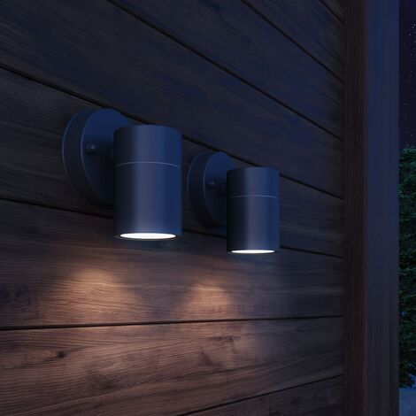 Outdoor Wall Lights 2 pcs Stainless Steel Downwards