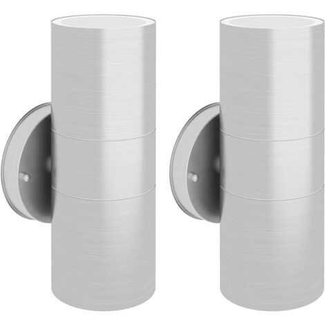 Outdoor Wall Lights 2 pcs Stainless Steel Up/Downwards