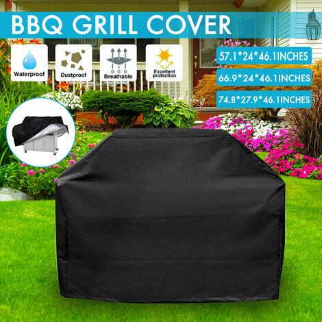 Outdoor waterproof gas burner barbecue cover charcoal barbecue grill protector (L)