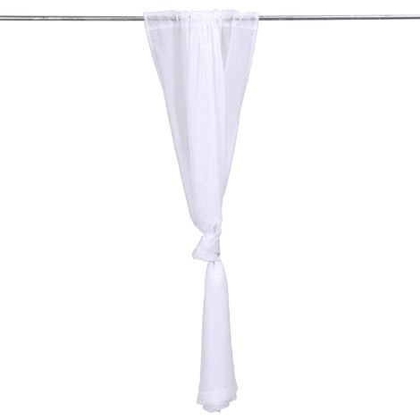 Outdoor Wedding Bathroom Garden Mosquito Net Polyester White Curtain Panel